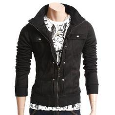 Finest quality. Zipper up jacket. 2 out side pockets. Slim fit.