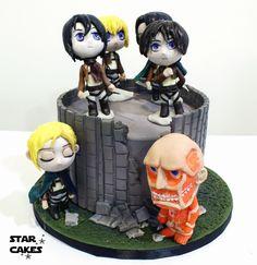 Tarta Shingeki No Kyojin Attack on Titan cake
