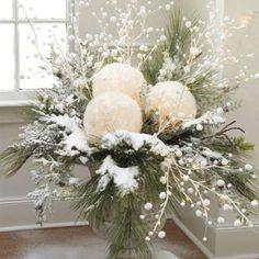 Christmas urn decoration