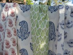 Indian block print textiles from Australian online store Cape Cod & Co.