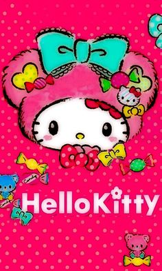 Image in Hello Kitty collection by May May on We Heart It Hello Kitty Clothes, Hello Kitty Art, Hello Kitty My Melody, Hello Kitty Items, Sanrio Hello Kitty, Hello Kitty Iphone Wallpaper, My Melody Wallpaper, Hello Kitty Backgrounds, Pink Wallpaper