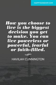 How you choose to live is the biggest decision you get to make. You can live…