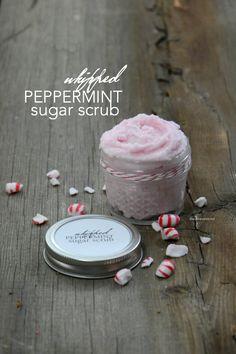 Whipped Peppermint Sugar Scrub Recipe - The Idea Room