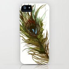 Peacock iPhone Case by Meg Ashford