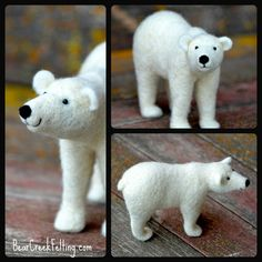 Polar Bear Needle Felted by Teresa Perleberg