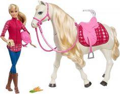 Barbie Interaktywny Funkcyjny Koń + Lalka FRV36