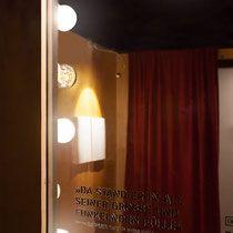 »Mephisto« – ©drej Fremde Heimat – Sonderausstellung im Buddenbrookhaus Lübeck Gestaltung: drej  www.drej-design.de   Grafik: Marco Störmer www.marcostoermer.com  #szenografie #sonderausstellung #ausstellung #exhibition design #literaturausstellen #literatur #thomas mann #buddenbrookhaus #lübeck