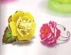 flower shrinky dink cocktail rings