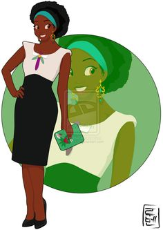 21 More Disney Characters As Modern College Students - 20.  Tiana - The Princess and the Frog - Link: http://hyung86.deviantart.com/art/Disney-University-Tiana-378468087