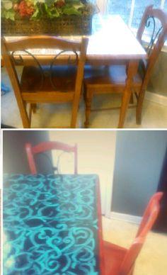 Kitchen Table Redo On Pinterest