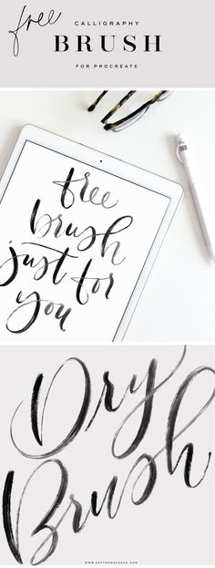A free calligraphy digital brush for Procreate! - Saffron Avenue - A free calligraphy digital brush for Procreate! Pencil Calligraphy, Calligraphy Tutorial, Modern Calligraphy, Ipad Pro, Classe D'art, Amazing Animals, Just In Case, Adobe Illustrator, Brush Lettering