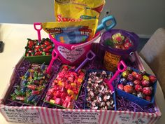 Thank you gift for nurses station... I was admitted to the hospital and wanted to make them something for taking such good care of me. Candy & ID badges :)   Www.Etsy.com/shop/cheerupyouruniform