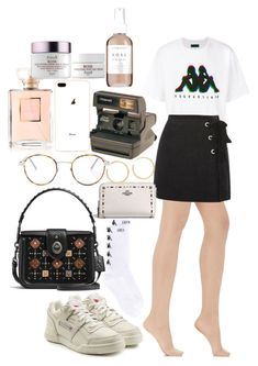 """""""Untitled #1554"""" by veronice-lopez ❤ liked on Polyvore featuring Wolford, Kappa, Reebok, Topshop, Coach, Yves Saint Laurent, Chanel, Polaroid, BaubleBar and Fresh"""