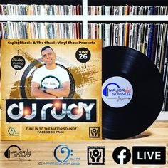 """Join DJ Rudy tomorrow night (Friday 8PM) for a """"Classic Vinyl"""" set... Proudly Powered by """"The Classic Vinyl Show"""" hosted by Lenny G on Capitol Radio - Every Saturday 9PM till 11PM . . . #facebooklive #djmix #vinyl #vinylcollection #vinylcollection #vinylrecords #housemusic #housemusiclovers #vinyljunkie #vinyladdict"""