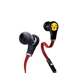 Premium Pikachu Earphone- Pokemon Go Premium Bass Stereo Headphones Noise Isolating In-Ear Earbuds Earphones(Red) – Pokemon Earphone, Pokemon Headphone  Pokemon gifts for him | Pokemon gifts for her.  Get more here: http://www.iwantpokemon.com/