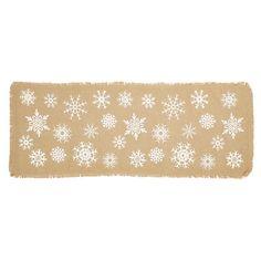 Snowflake Burlap Table Runner