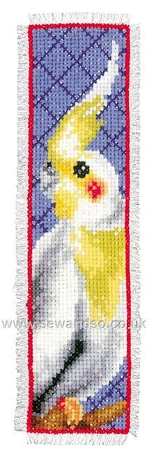 Buy Cockatiel Bookmark Cross Stitch Kit online at sewandso.co.uk