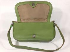 Wilsons Leather Green Purse Pocketbook Handbag Strap Vintage Apparel Bag  #Wilson #Clutch