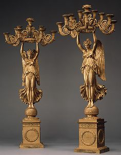 Pierre-Philippe Thomire: Pair of candelabra (26.256.2,.3) | Heilbrunn Timeline of Art History | The Metropolitan Museum of Art