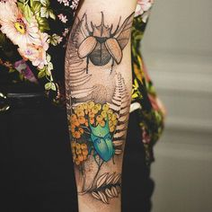 Ideas for skin art body tatoo Natur Tattoos, Kunst Tattoos, Body Art Tattoos, Sleeve Tattoos, Ink Tattoos, Tatoos, Detailliertes Tattoo, Form Tattoo, Shape Tattoo