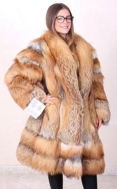 Fox Fur Jacket, Fox Fur Coat, International Trade, Red Fox, Derp, Im Not Perfect, Casual, How To Wear, Cotton