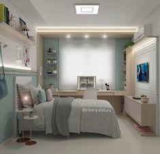 Room Interior, Interior Design Living Room, Small Room Bedroom, Bedroom Decor, Small Space Interior Design, Hotel Room Design, Teen Bedroom Designs, Cute Room Decor, Bedroom Layouts