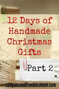 Handmade Christmas Gifts (Part 2): 12 Simple Homemade Holiday Presents! 12 MORE EASY and inexpensive DIY gifts that are perfect for this holiday season! This is part 2, of 12 MORE Handmade Gifts! Don't spend a fortune on Christmas gifts! Check out these beautiful, fun, and easy homemade gift ideas right now!
