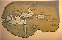 Mapa mundi según los textos de Herodoto