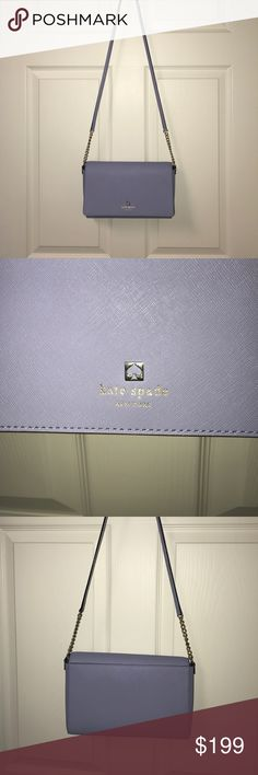 kate spade crossover bag new kate spade new york lilac body crossover bag with open and zip pockets inside, strap detachable kate spade Bags Crossbody Bags