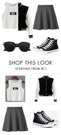 """"""""""" by ellamarie55 ❤ liked on Polyvore featuring New Look, Apt. 9 and Converse"""