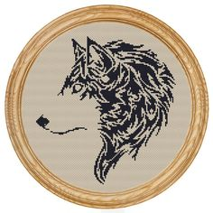 Cross+Stitch+Pattern+PDF+wolf+silhouette+by+HappyStitches4You,+$5.00
