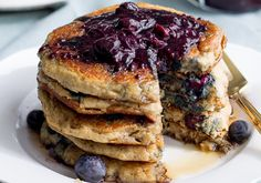 Blueberry Oatmeal Pancakes | 50 Healthy Breakfast Recipes That Will Blow Your Mind - Dr. Axe