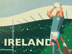 Ireland Rugby designed by Fraser Davidson for Cub Studio. Connect with them on Dribbble; Ireland Rugby, Team Games, Pictures Images, Digital Illustration, Cubs, Sport Design, Sports Graphics, Inspiration, Design Ideas
