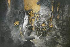 Золотая живопись Яна Лоссела  Золото и тайна царят в мрачных картинах Яна Лоссела (Yoann Lossel), современного французского художника и дизайнера.