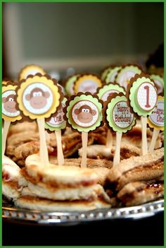 Food Ideas For Owens Monkey Themed Birthday Party Love The Idea