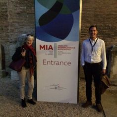Oct 24 2016 @CrossDayFilms - Sam & @PippaCross13 at @MIAmarket_Rome this week for new project #TheLongWayRound!