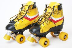 Vintage Kinderrollschuhe // 70s rollerskates for children by DAG70 via DaWanda.com