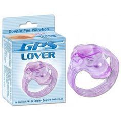 ANNEAU PÉNIS VIBRANT GPS. Le GPS Lover est le premier et l'unique micro vibrateur conçu pour stimuler le point G pendant la pénétration.  Offert par la boutique érotique (sex shop) La Clé du Plaisir.