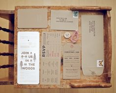 Punched Out Wedding Invitations - My Modern Metropolis