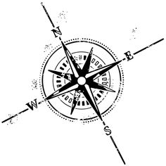Distressed Compass Rose / Nautical Tattoo Symbols / Free Tattoo Designs, Gallery, and Ideas
