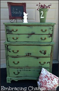 2 parts Luckett's Green Miss Mustard Seed Milk Paint to 1 part Boxwood.  sealed with Miss Mustard Seed Hemp Oil.