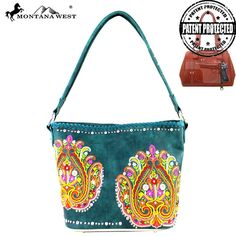 MW363G-916 Montana West Embroidered Collection Concealed Handbag