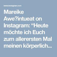 """Mareike Aweintueat on Instagram: """"Heute möchte ich Euch zum allerersten Mal meinen körperlichen Wandel zeigen  Auf diesen beiden Bildern seht Ihr, wie sich meine Figur…"""""""