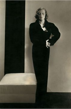 Photo by Edward Steichen, 1932, Actress Joan Crawford in a dress by Schiaparelli. © Condé Nast Publications