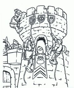 knights coloring page for an early arrival activity or goody bag filler - Castle Knights Coloring Pages