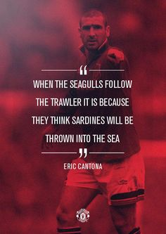 One of the greatest sporting events on the planet is soccer, also called football in a lot of countries around the world. Manchester United Fans, I Love Manchester, Eric Cantona, Soccer Skills, Soccer Tips, Soccer Inspiration, Football Icon, Premier League Champions, Soccer Quotes