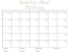 The Fun Cheap or Free Queen: FREE printables Monthly meal planner, freezer & pantry inventory, etc.