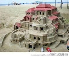 Amazing sand castle!