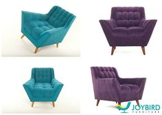 What would look better in your space...  A Fitzgerald chair in Blue or Purple?