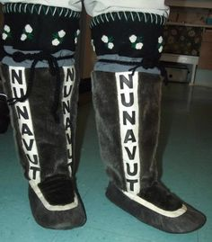 Inuit made women's sealskin kamiks by Veronica Ell SOLD for $920